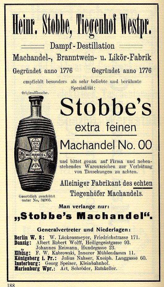 Stobbe's Machandel No. 00
